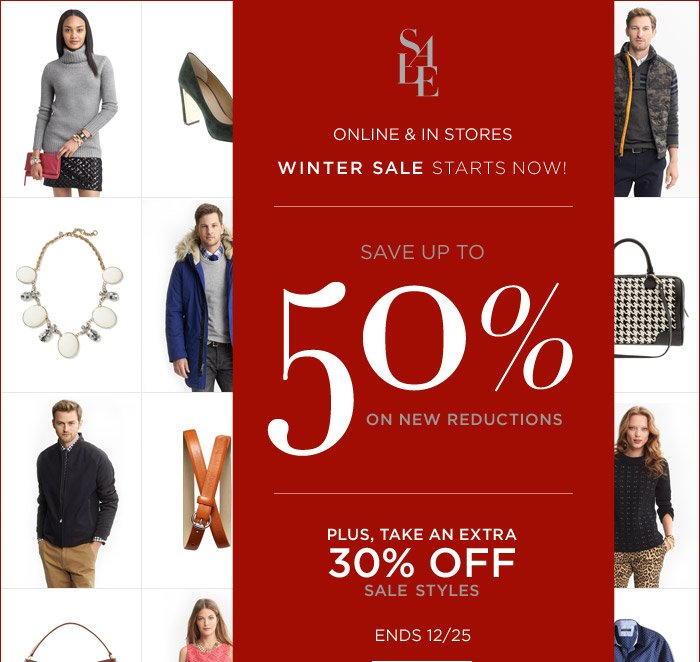 SALE | SAVE UP TO 50% ON NEW REDUCTIONS