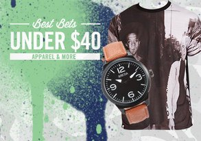 Shop Best Bets Under $40: Apparel & More
