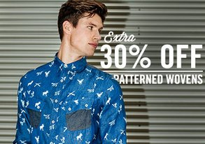 Shop Extra 30% Off: Patterned Wovens