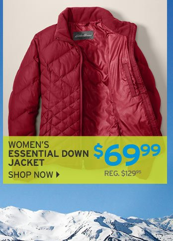 Shop Women's Essential Down Jacket