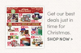 Get our best deals just in time for Christmas.