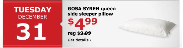 GOSA SYREN queen side sleeper pillow | $4.99