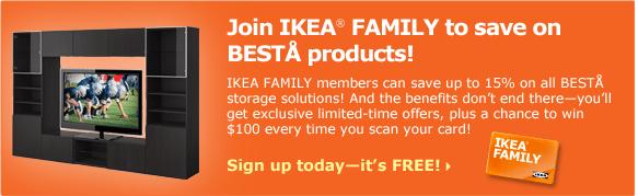 Take advantage of your IKEA FAMILY benefits