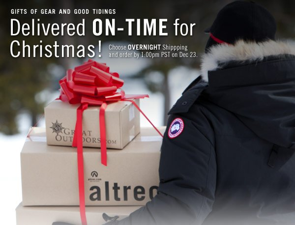 Holiday Gifts On-Time