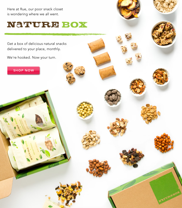 NatureBox: Good-for-you snacks, delivered.