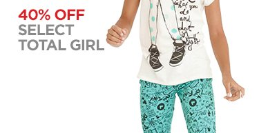 40% OFF SELECT TOTAL GIRL