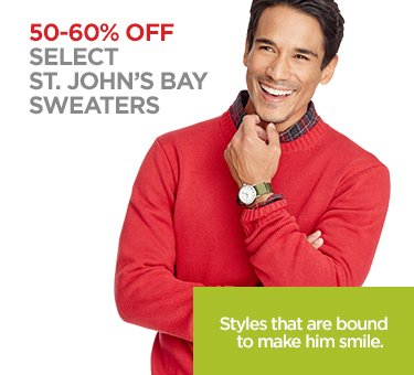50-60% OFF SELECT ST. JOHN'S BAY SWEATERS