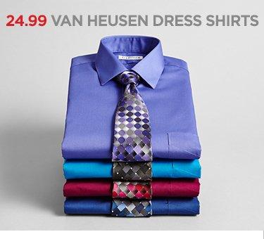 24.99 VAN HEUSEN DRESS SHIRTS