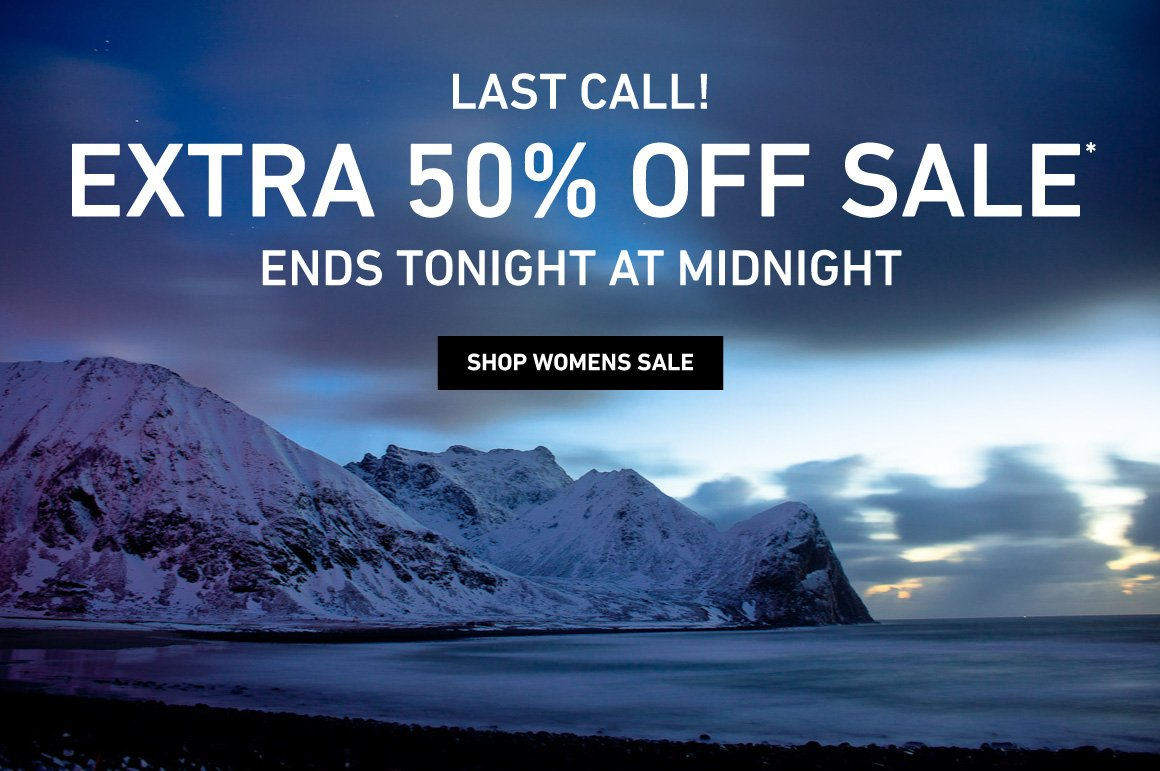 Last Calle - Extra 50% Off Sale Ends Tonight At Midnight!