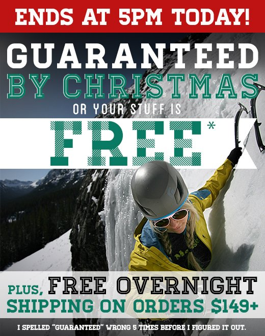 Guaranteed by Christmas or it's Free