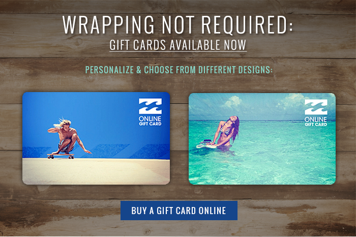 Wrapping not required: gift cards available now