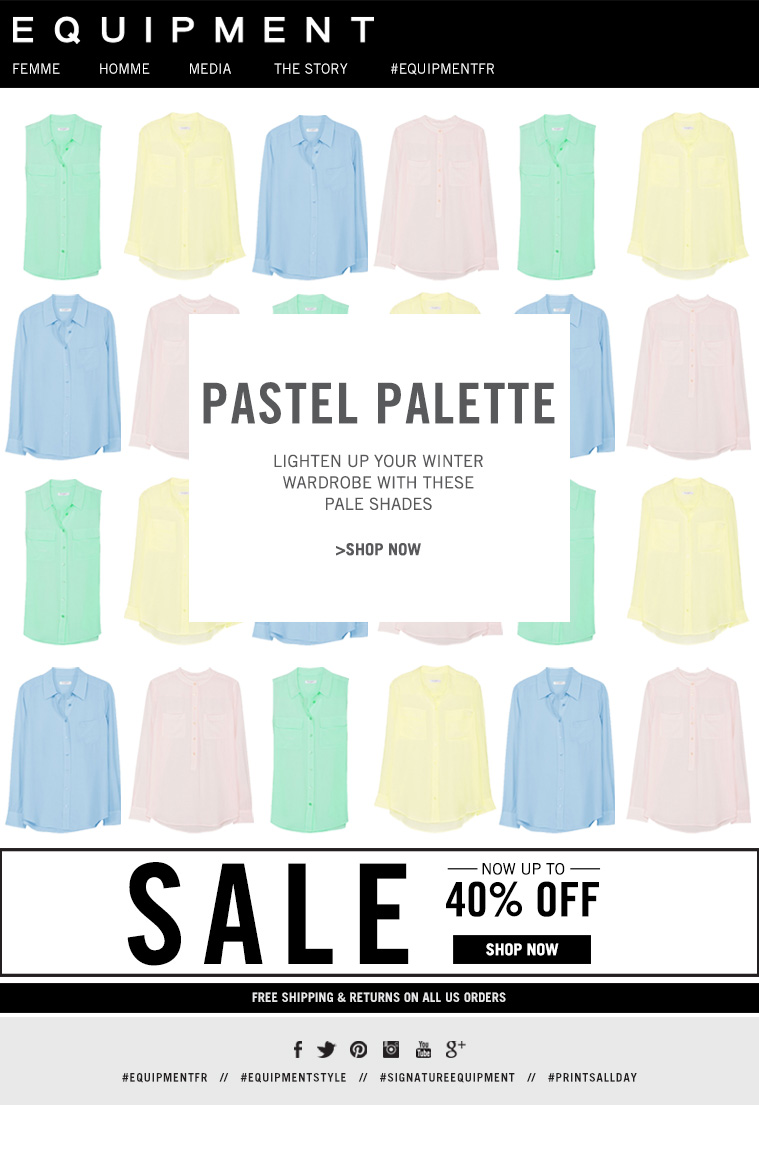 PASTEL PALETTE LIGHTEN UP YOUR WINTER WARDROBE WITH THESE PALE SHADES >SHOP NOW