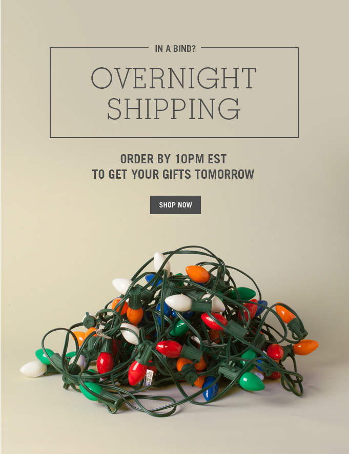 overnight shipping. shop now.