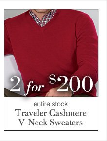2 for $200 USD - Traveler Cashmere V-Neck Sweaters