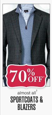 70% Off* - Sportcoats & Blazers