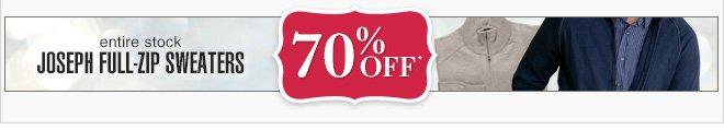 70% Off* - Joseph Full-Zip Sweaters