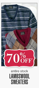 70% Off* - Lambswool Sweaters