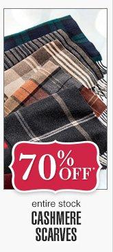 70% Off* - Cashmere Scarves