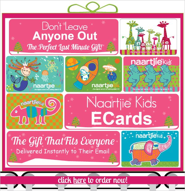 Oh No!  Forgot Someone? Naartjie Kids ECards - The Perfect Last Minute Gift & Delivered  Instantly