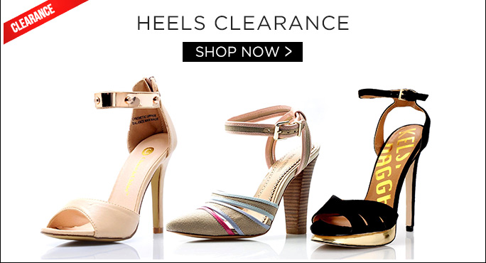 Heels Clearance. Shop Now