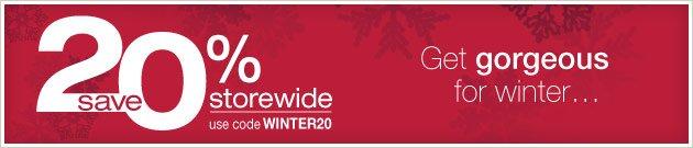 Save 20% Storewide