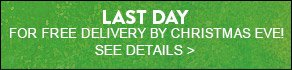 LAST DAY FOR FREE DELIVERY BY CHRISTMAS EVE! SEE DETAILS