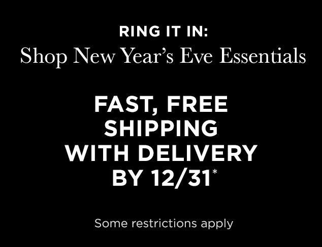 FAST, FREE SHIPPING WITH DELIVERY BY 12/31