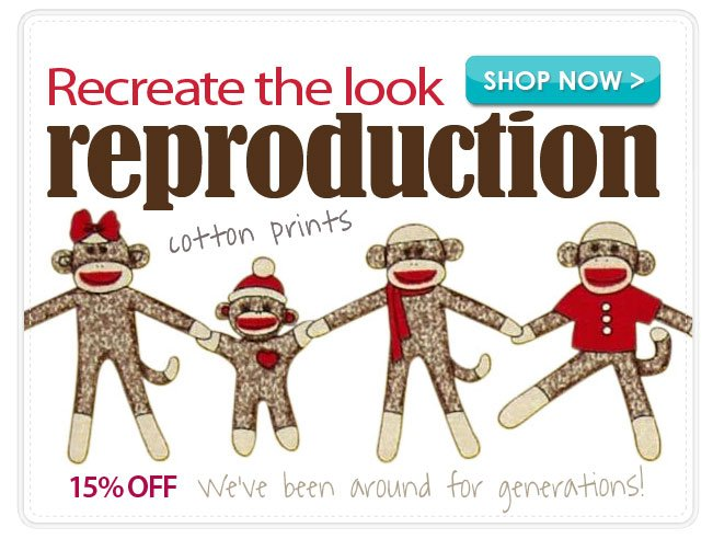 15% Off Reproduction Cotton Prints