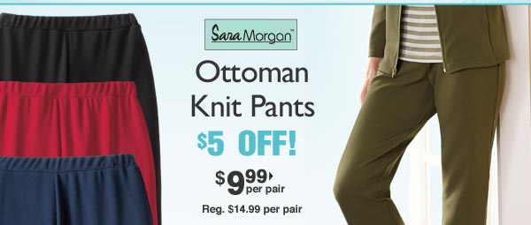 Sara Morgan Knit Pants $9.99 per pair