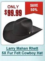 Larry Mahan Rhett 5X Fur Felt Cowboy Hat