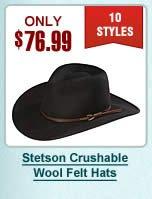 Stetson Crushable Wool Felt Hats
