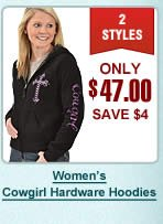 Womens Cowgirl Hardware Hoodies
