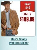 Mens Scully Western Blazer