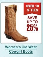 Womens Old West Cowgirl Boots