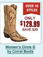 Womens Circle G Boots