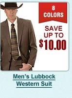 Mens Lubbock Western Suit