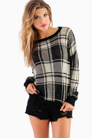 Pierce Plaid Sweater
