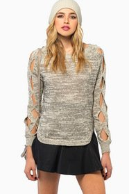 Twisted Over You Knit Sweater