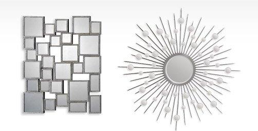 Stafford Small Rectangular Mirror By: Jonathan Wilner Kelly; STARBURST ROUND MIRROR By: Jonathan Wilner Paul De Bellefeuille