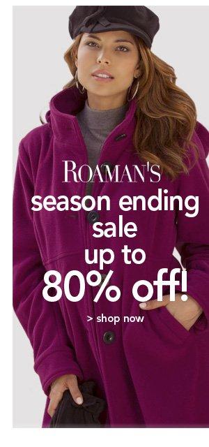 Shop Roaman's Season Ending Sale