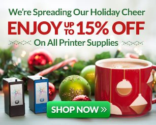 SHOP NOW and Enjoy Up To 15% Off on All Printer Supplies