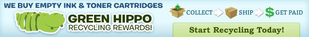 Start Recycling Your Ink and Toner Today with Our New Partner - Green Hippo