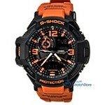 Casio GA1000-4A Men's G-Shock Black Ana-Digi Dial Orange Resin Strap Alarm Dive Watch