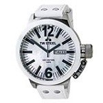 TW Steel CE1038 Men's CEO Canteen MOP Dial White Leather Strap Watch