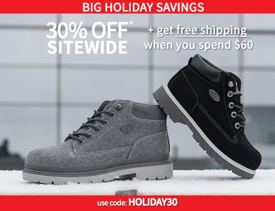 Big Holiday Savings – 30% plus Free Shipping