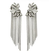 Bond St. Crystal Fringe Earrings
