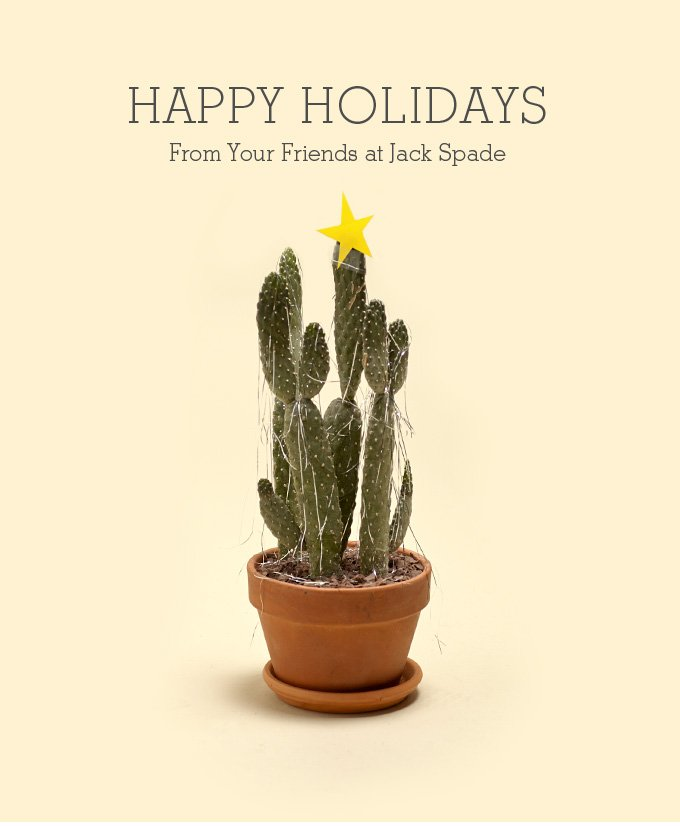 happy holidays from your friends at jack spade.