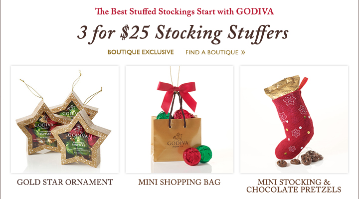 The Best Stuffed Stockings Start with GODIVA