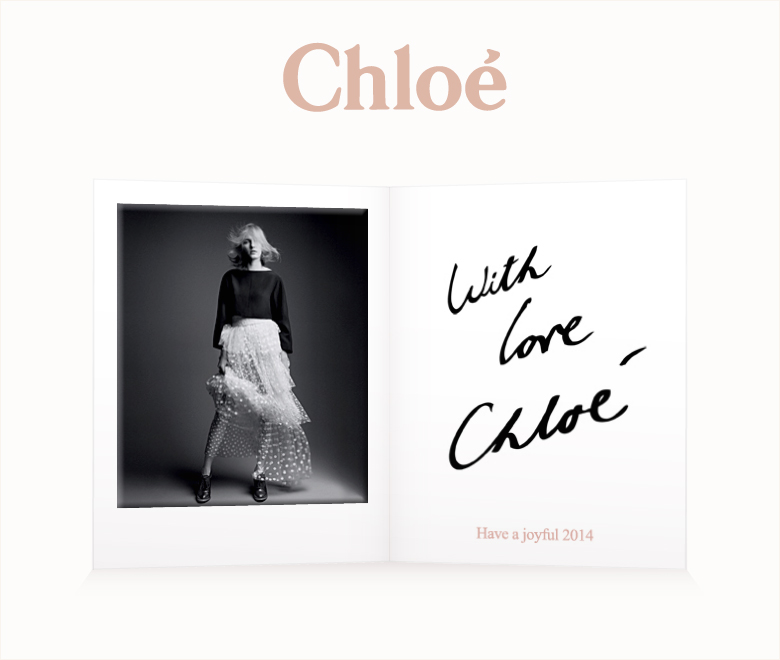 Festive wishes from Chloé