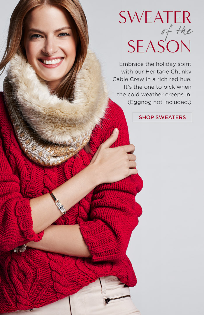 SWEATER of the SEASON | SHOP SWEATERS